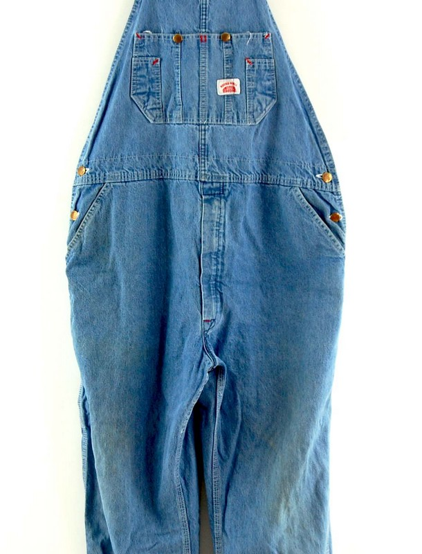 Front close up of Roundhouse Blue Denim Dungarees