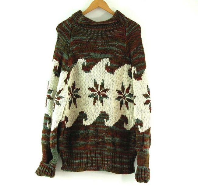 Back of 70s Snowflake Cowichan Sweater