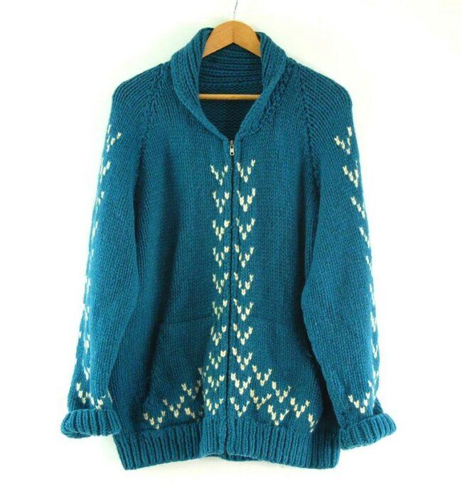 Blue Cowichan Sweater