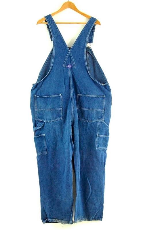 Back of Big Smith Blue Vintage Denim Dungarees