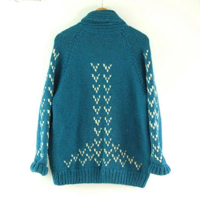 Back of Blue Cowichan Sweater