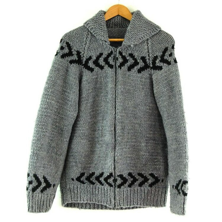 80s Arrow Print Cowichan Sweater