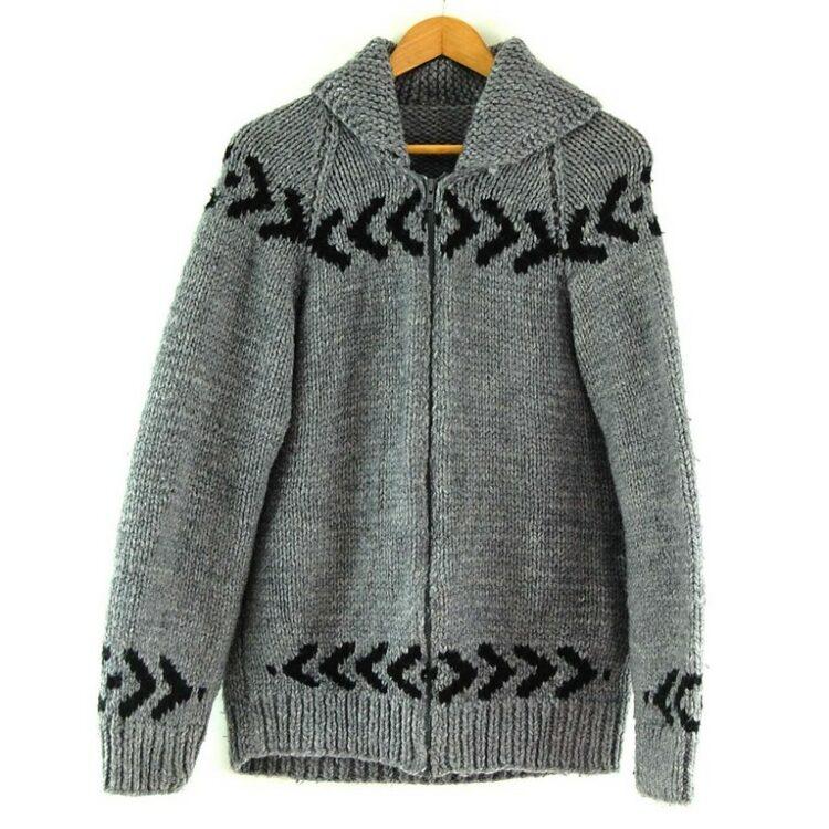 80s Arrow Print Cowichan Sweater