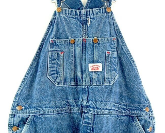 Front close up of Round House Denim Mens Dungarees