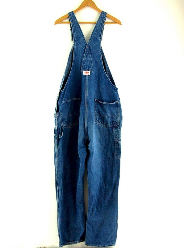 Back of Round House Denim Mens Dungarees