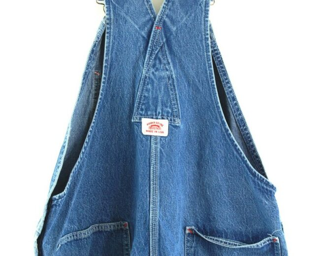 Back close up of Round House Denim Mens Dungarees