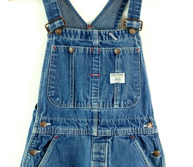 Front close up of Blue Denim Dungarees