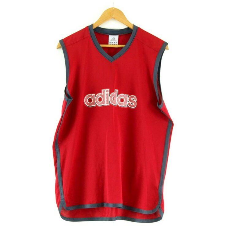 Red Adidas Mesh Vest