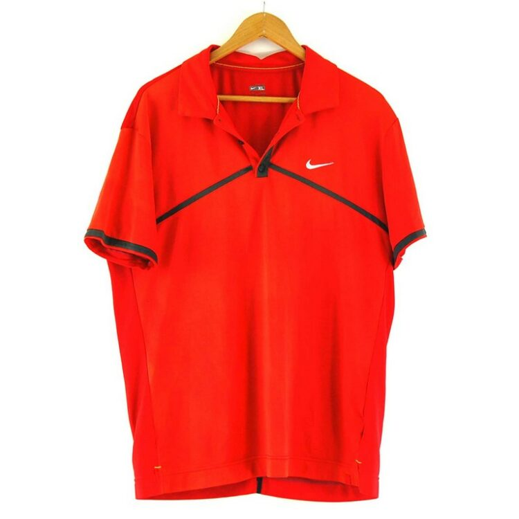 Mens Nike Red Polo Top