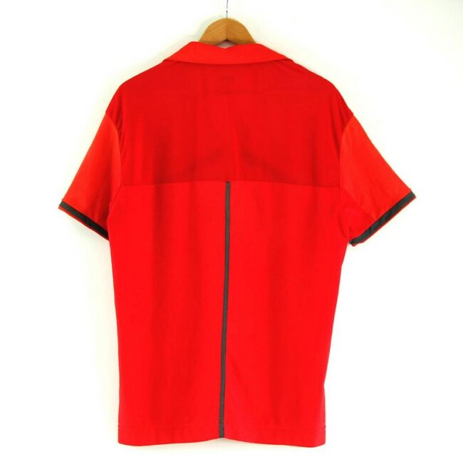Back of Mens Nike Red Polo Top
