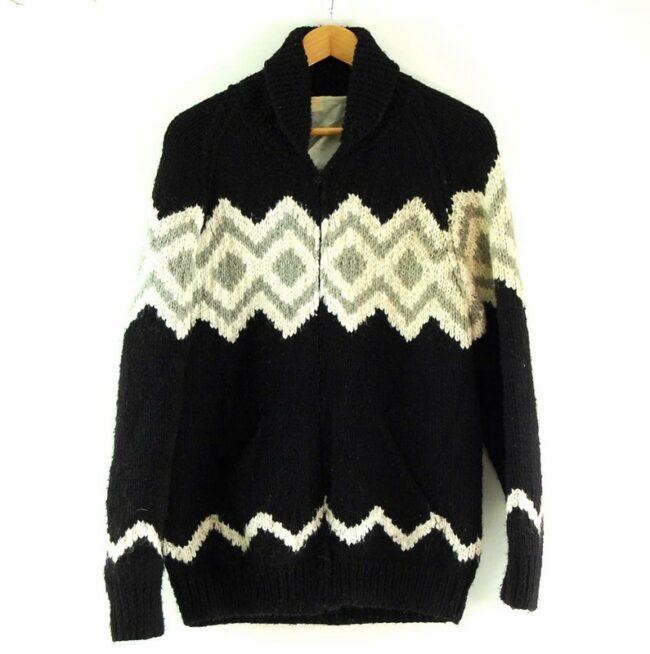 80s Zig Zag Cowichan Sweater