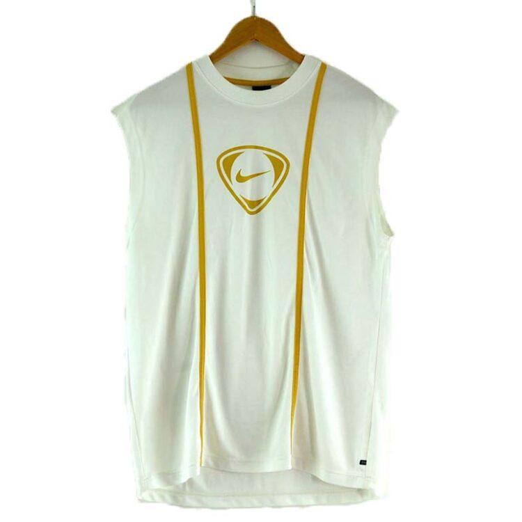 Mens Nike White Vest