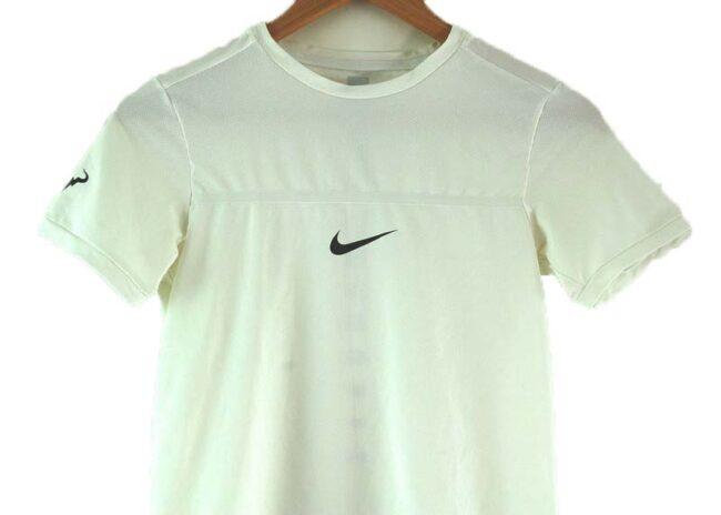 Close up of Nike Mesh T-shirt White