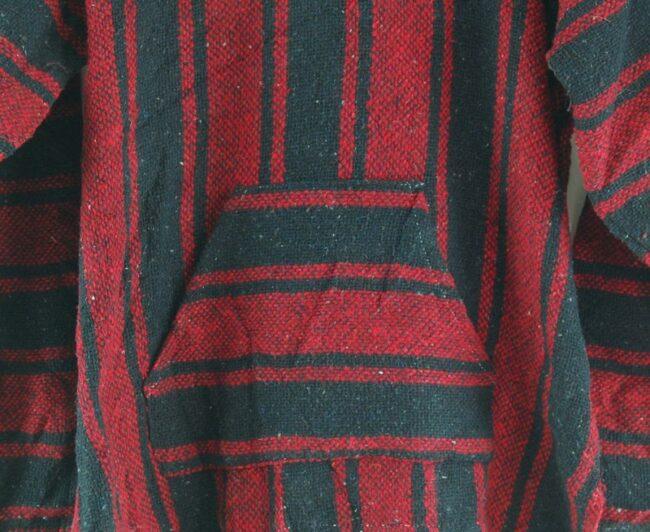Close up Red And Black Baja Hoodie