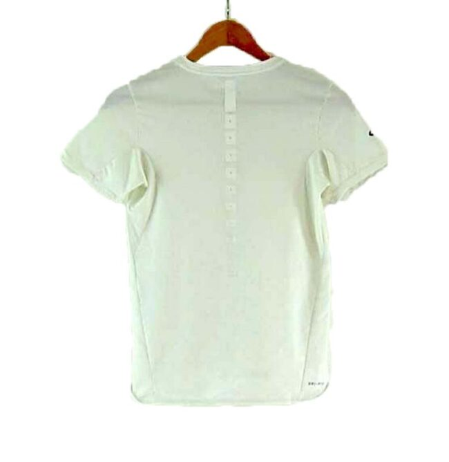 Back of Nike Mesh T-shirt White