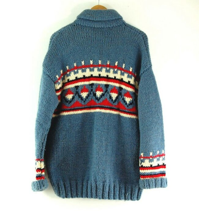 Back of 80s Vintage Cowichan Sweater