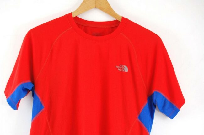 Close up of Flash Dry The North Face Red T Shirt