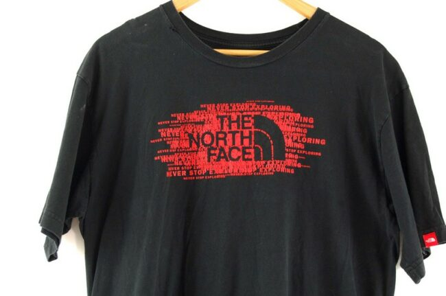 Close up of The North Face Black T Shirt