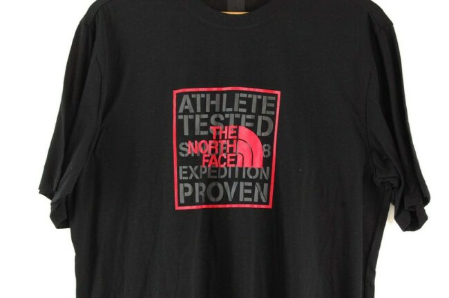 Close up of Black T Shirt The North Face