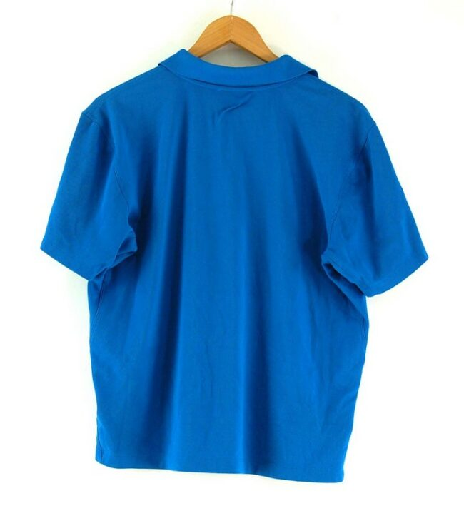 Back of Blue The North Face Polo Shirt