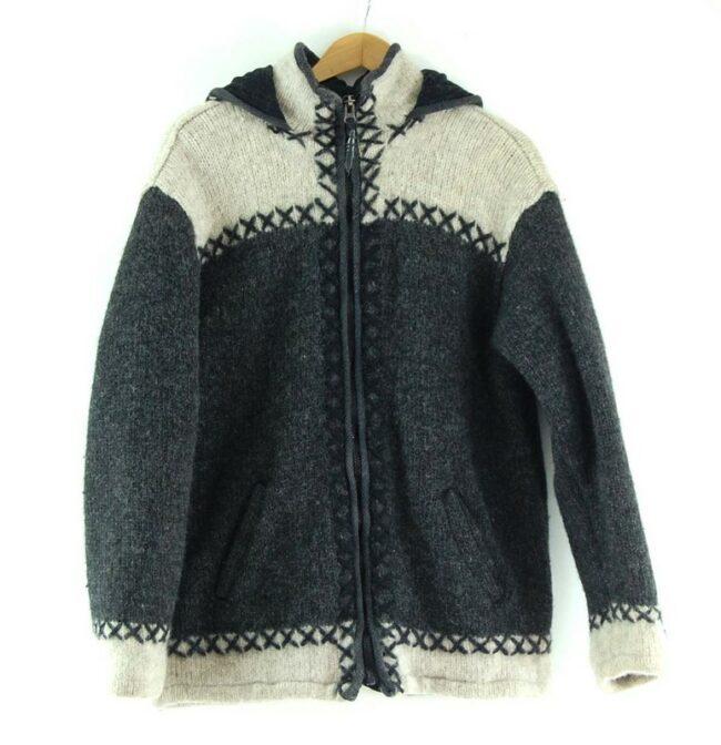 80s Hooded Cowichan Sweater