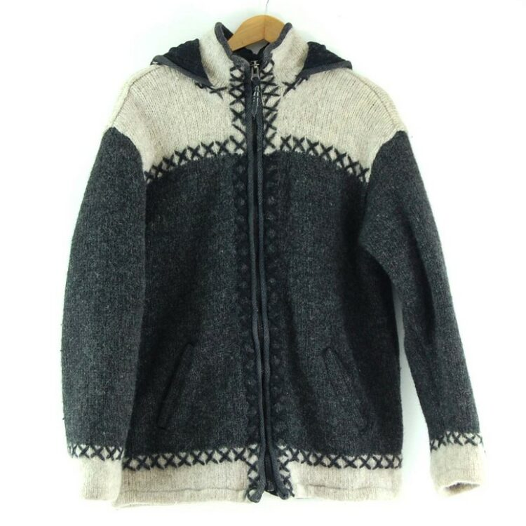 80s Hooded Cowichan Sweater