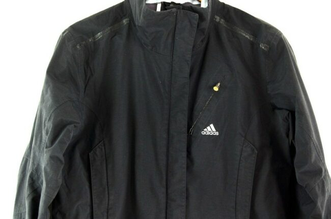 Close up of Adidas Zip Up Jacket Black