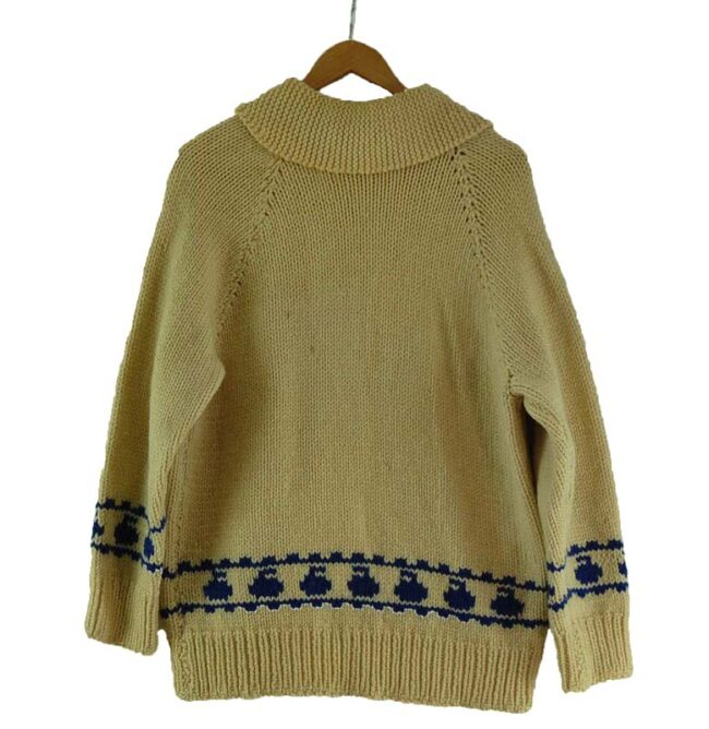 Back of Cowichan Sweater Curling Theme