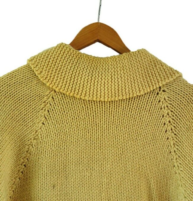 Back close up of Cowichan Sweater Curling Theme