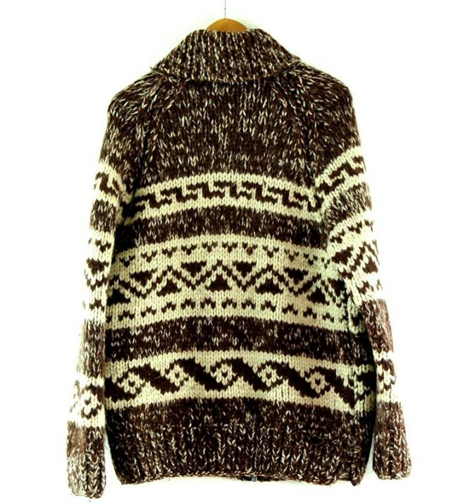 Back of 80s Traditional Cowichan Sweater