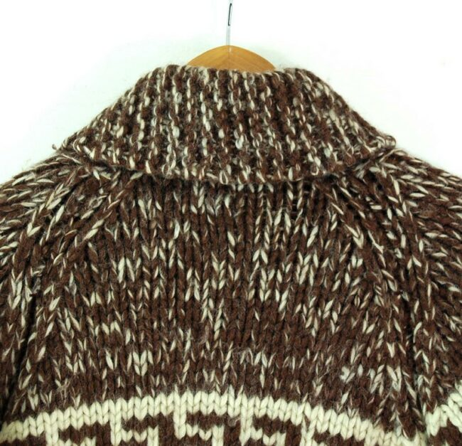 Back close up of 80s Traditional Cowichan Sweater