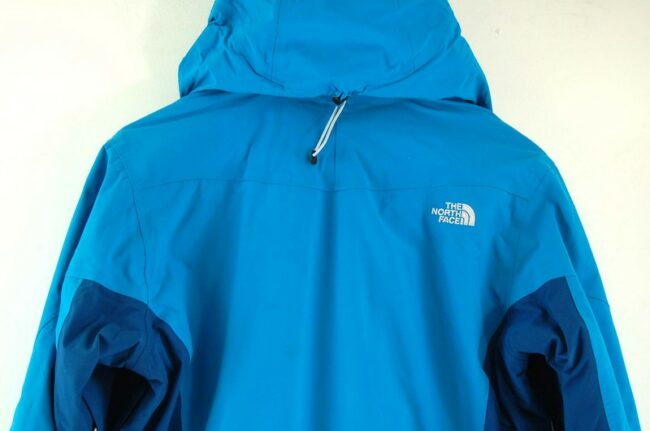 Close up of back of Blue The North Face Womens Jacket