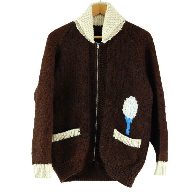 70s Golf Cowichan Sweater