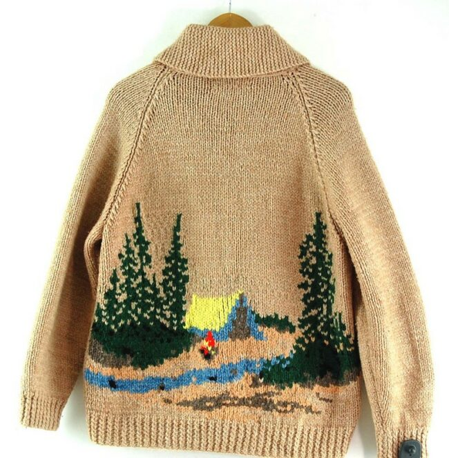 Back of Cowichan Sweater Campfire Theme