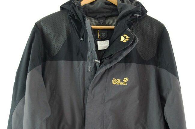 Close up of Grey Jack Wolfskin Jacket