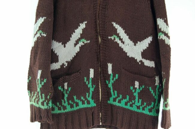 Front close up of Cowichan Sweater Ducks