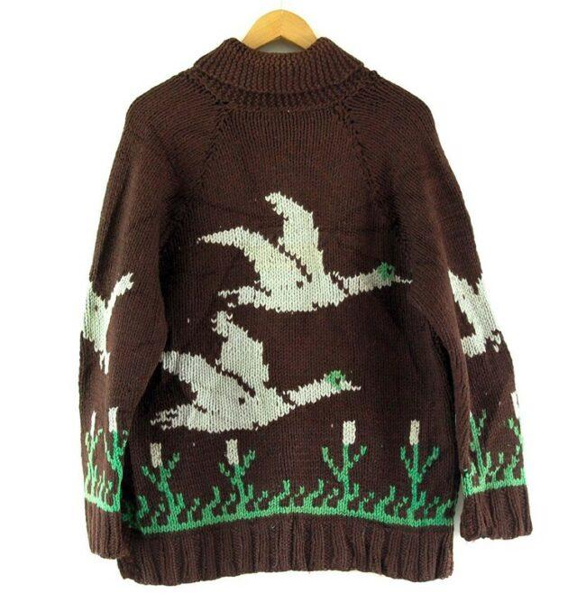 Back of Cowichan Sweater Ducks