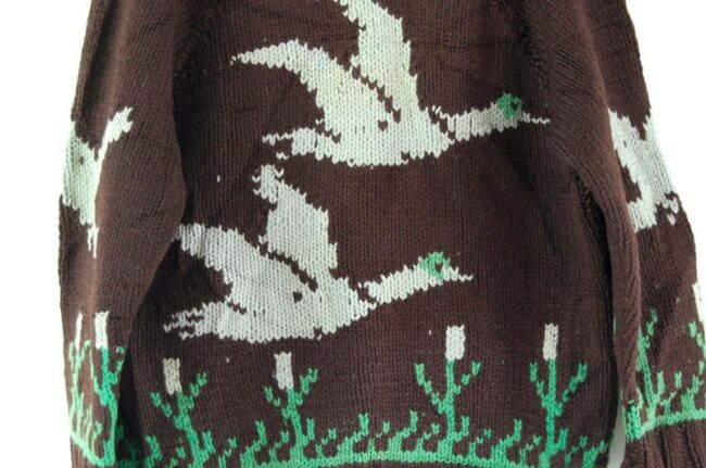 Back close up of Cowichan Sweater Ducks