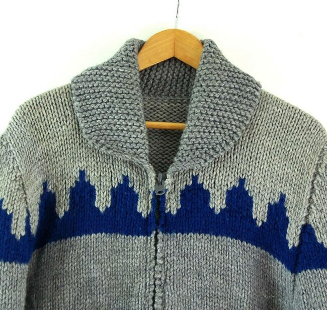 Front close up of 80s Mens Cowichan Sweater