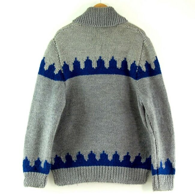 Back of 80s Mens Cowichan Sweater