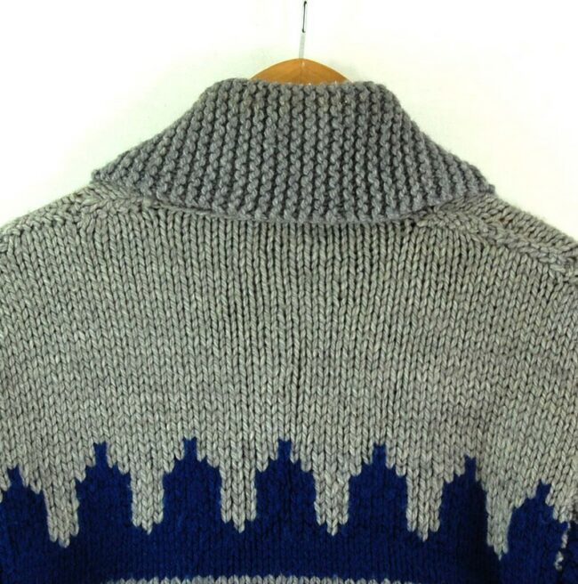 Back close up of 80s Mens Cowichan Sweater