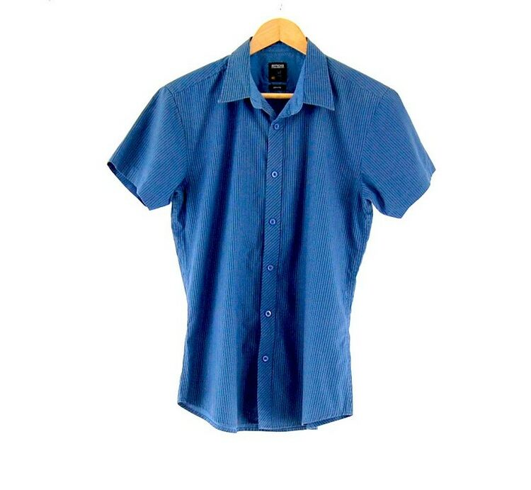 Short Sleeve Blue Striped SMOG Shirt