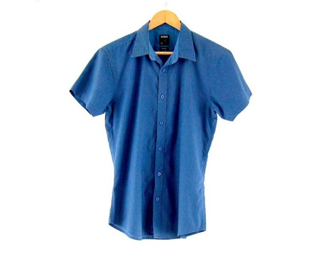 Short Sleeve Blue Striped SMOG Shirt