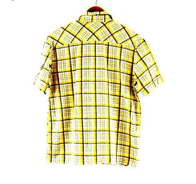 Back of Short Sleeve Lee Check Shirt