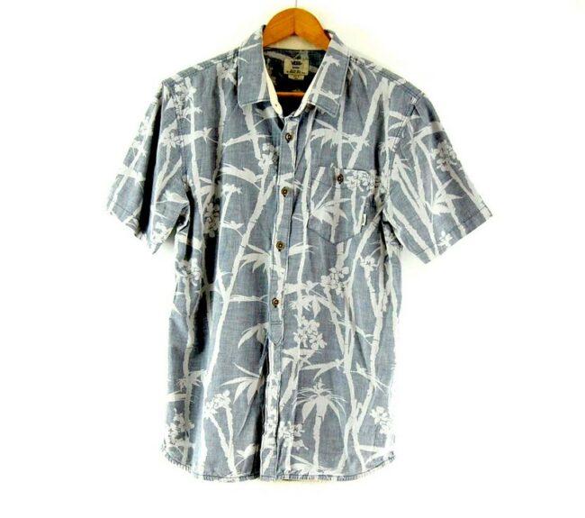 Short Sleeve Tropical Print Grey Vans Shirt