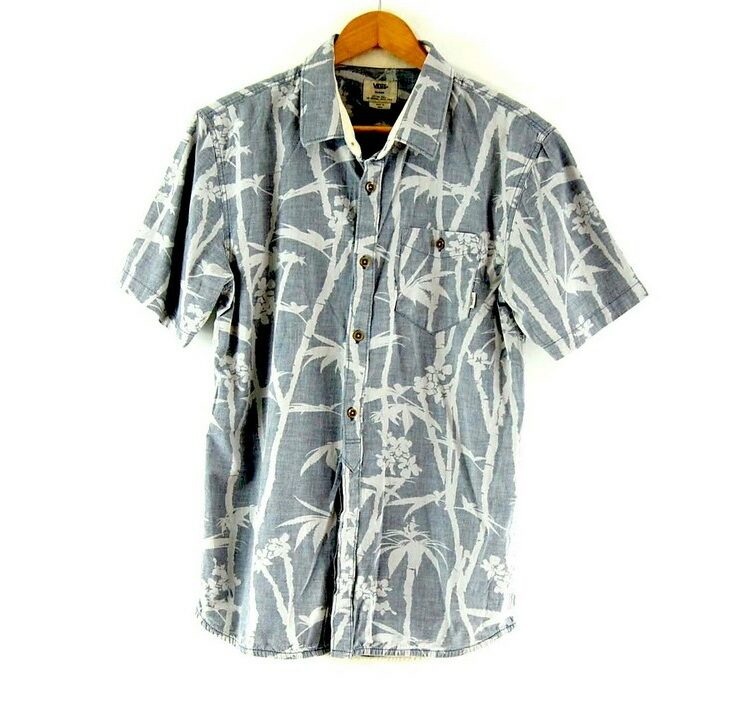 Short Sleeve Tropical Print Grey Vans Shirt