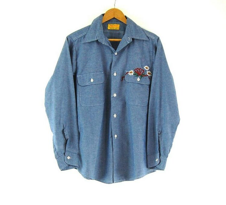 Hand Painted Raccon Work Shirt