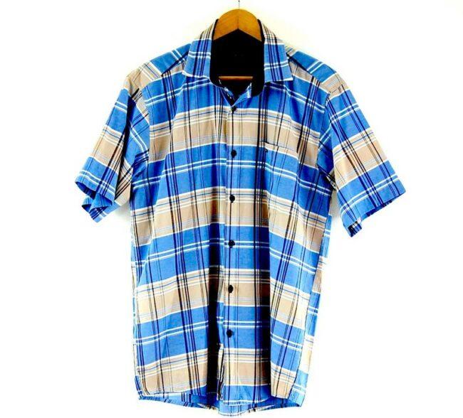 Check Short Sleeve Blue Tommy Hilfiger Shirt