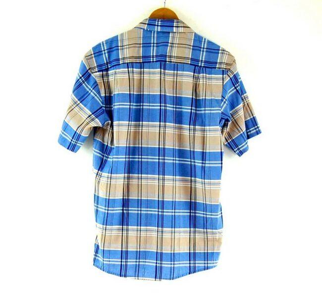 Back of Check Short Sleeve Blue Tommy Hilfiger Shirt