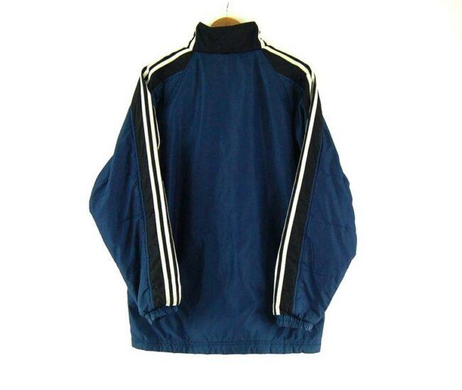 Back of Adidas Puffa Jacket Navy Blue